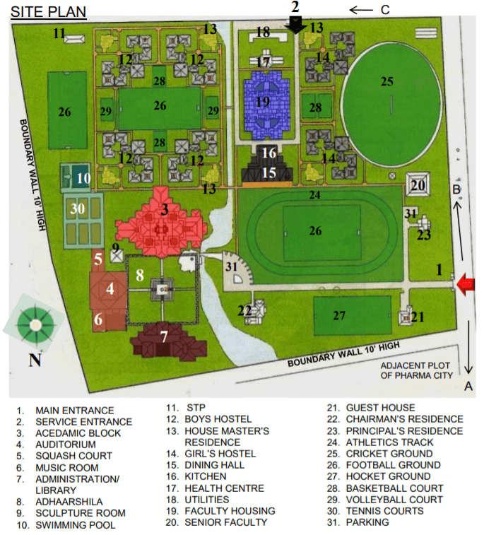 SITE PLAN SELAQUI SCHOOL